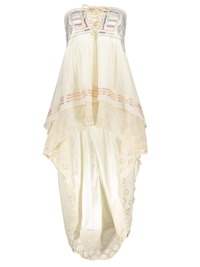 High-Low  Printed Asymmetric Skirt - OFF-WHITE L Mobile