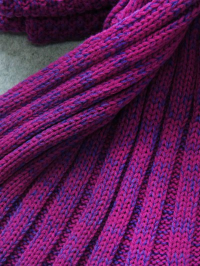 Knitted Mermaid Tail Throw Blanket - PURPLE  Mobile