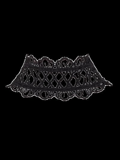 Collar Gargantilla De Encaje Corona - Negro