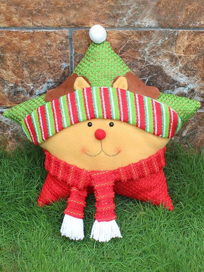 Merry Christmas Reindeer Star Pillow - YELLOW  Mobile