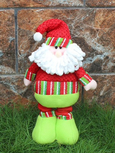 Christmas Party Decorative Stretched Santa Puppet Toy - RED AND GREEN  Mobile