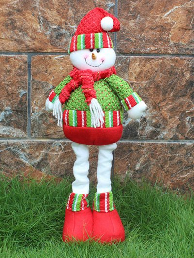 Christmas Party Decorative Stretched Snowman Puppet Toy - RED AND GREEN  Mobile