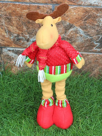 Christmas Party Decorative Stretched Deer Puppet Toy - RED AND GREEN  Mobile