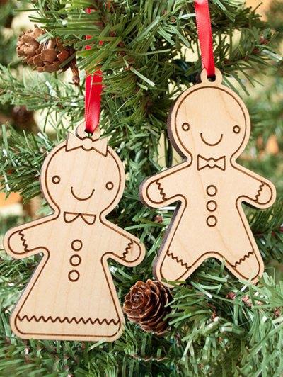 Christmas Tree Cookie Wooden Pendants Decoration - Wood