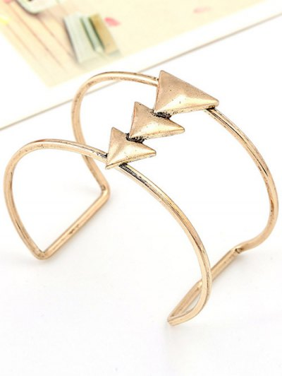 Triangle Two Layered Cuff Bracelet - GOLDEN  Mobile