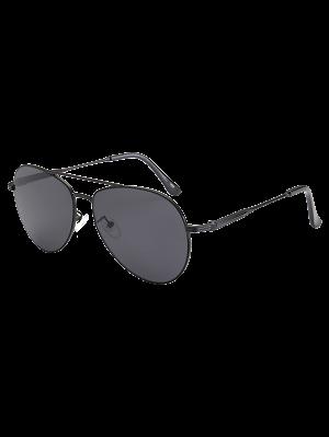 Gafas De Sol Estilo Piloto Marco Metálico Anti UV - Negro
