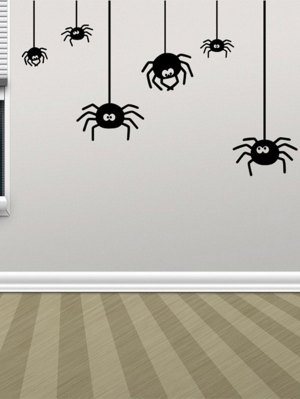 Irregular Spider Design Halloween Vinyl Wall Stickers Custom