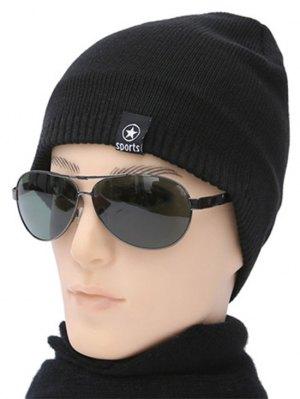 Winter Knit Ski Beanie - Black