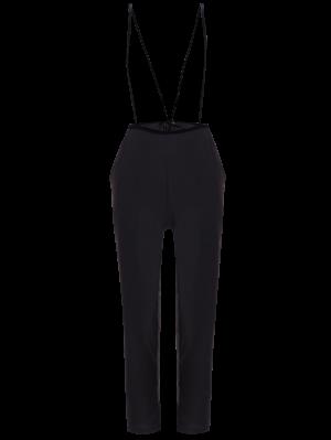 Black High Waisted Pencil Pants - Black
