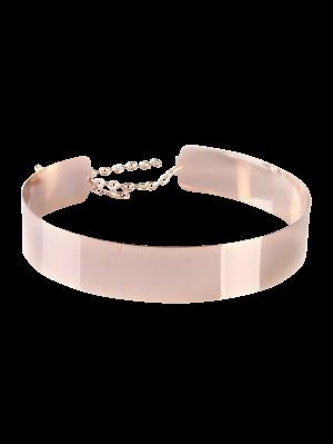 Mirrored Waist Belt - Rose Gold