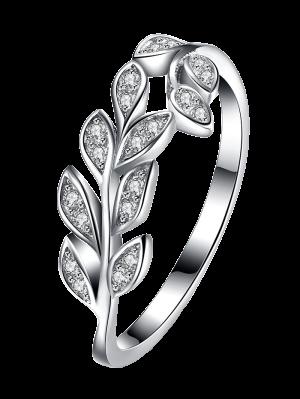 Leaf S925 Diamond Ring - Silver