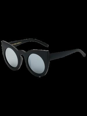Objectif Round Mirrored Cat Eye Sunglasses - Noir