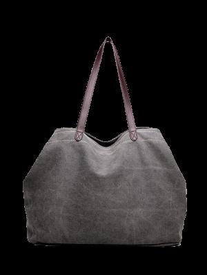 Canvas Stitching Shoulder Bag