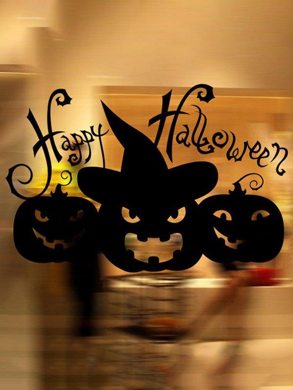 Happy Halloween Pumpkin Witch Removable Waterproof Room Wall Sticker