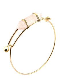 Bracelet Vintage Embellie A Pierre Précieuse Naturel  - Blanc