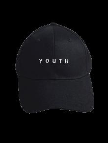 Letter Baseball Cap - Black