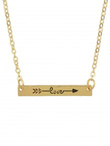 Arrow Rectangle Bar Necklace