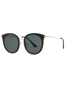 Cat Eye Black Sunglasses - Black