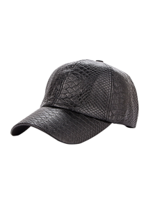 Casual Crocodile PU Leather Baseball Hat