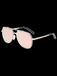 النظارات الشمسية الخفيفة بطراز الطيار - وردي فاتح