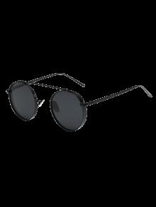 النظارات المستديرة مكتنزة الإطار - أسود