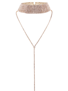 Rhinestoned Wide Choker