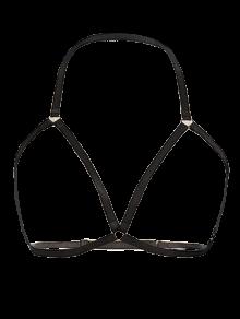 Vintage Bra Bondage Harness Body Jewelry - BLACK