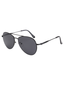Metal Crossbar Pilot Sunglasses