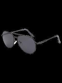 المعادن العارضة الطيار النظارات الشمسية - أسود