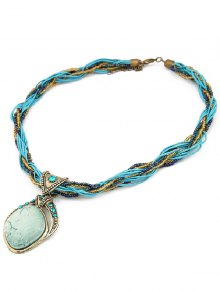 Faux Gem Multilayered Retro Style Necklace