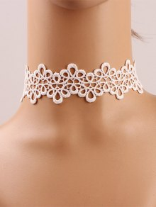 Crochet Flower Choker