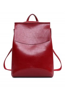 PU Leather Cover Solid Color Satchel