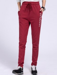Side Letter Graphic Running Pants