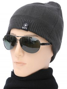 Winter Knit Ski Beanie - Gray