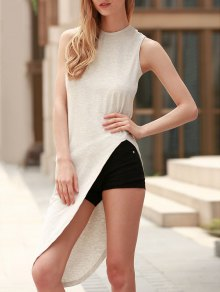 Sleeveless Asymmetrical T-Shirt