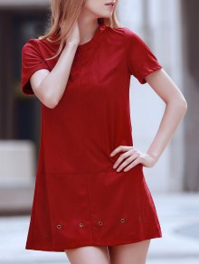 Grommet Design Wine Red Dress
