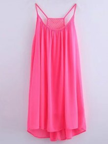 Chiffon Mesh Design Flippy Dress