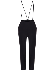 Black High Waisted Pencil Pants - Black