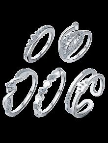 Crown Leaf Wedding Jewelry Rings