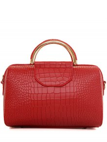 Crocodile Print Solid Color Tote Bag
