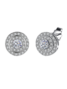 S925 Diamond Earrings - Silver