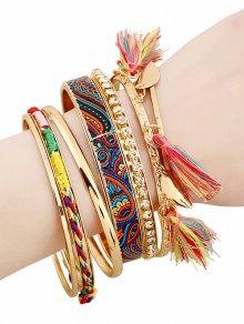 Strass Tassel Bracelets Ethniques - Or