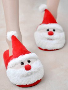 Christmas Flock Color Block Slippers