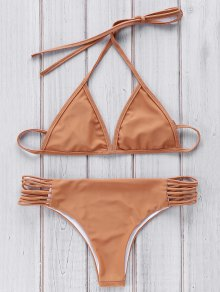 Marrón Cami Set Bikini