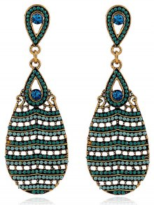 Beaded Water Drop Pendant Earrings