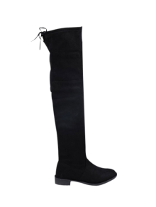 Suede Flat Heel Thigh High Boots BLACK: Boots 37 | ZAFUL