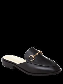 Metal Solid Color Flat Heel Sandals