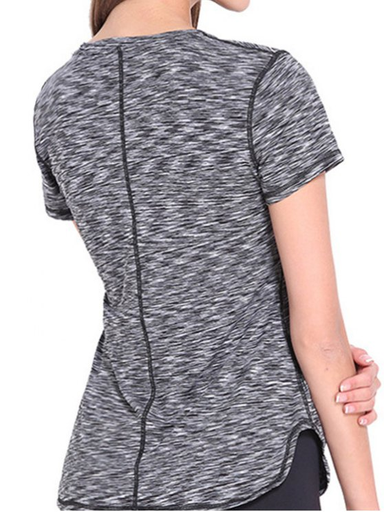 Short Sleeve Sports Tee - GRAY M Mobile