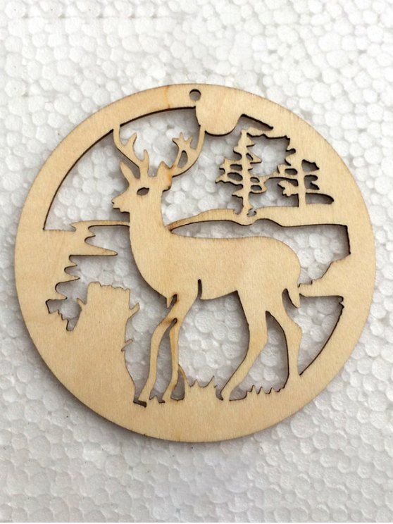 Christmas Tree Hollow Out Deer Hangers Decoration -   Mobile