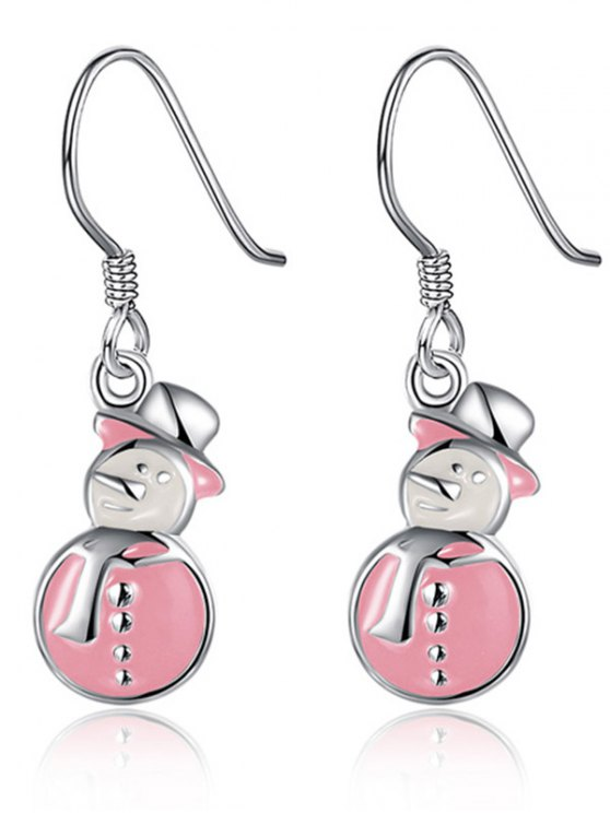 Enamel Snowman Christmas Drop Earrings -   Mobile